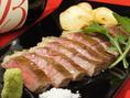 九州各地よりA5ランクの牛肉を厳選! シェフが鉄板で豪快に焼いて提供!!