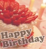 お誕生日パーティーにホールケーキのご注文を!