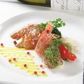 料理メニュー写真《太刀魚のスモークと海老のクリュオリーブ風味♪》