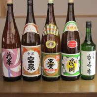 会津の地酒もそろえています。