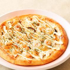料理メニュー写真エビグラタンピザ