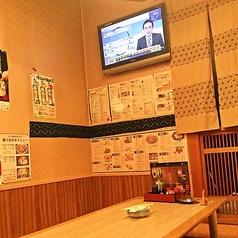 テレビがついててスポーツ観戦(野球、サッカー)できます。