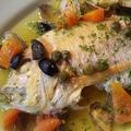 料理メニュー写真まるごと鮮魚一尾アクアパッツァ