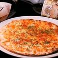 《ピザも種類豊富》マルゲリータや、シラスたっぷり薄焼きピザ、4種のチーズの薄焼きピザ等、お好きな1品をどうぞ
