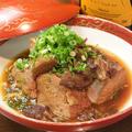 料理メニュー写真名物肉カス豆腐