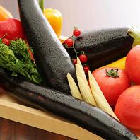当店では、朝採れの新鮮な野菜を使用しています。