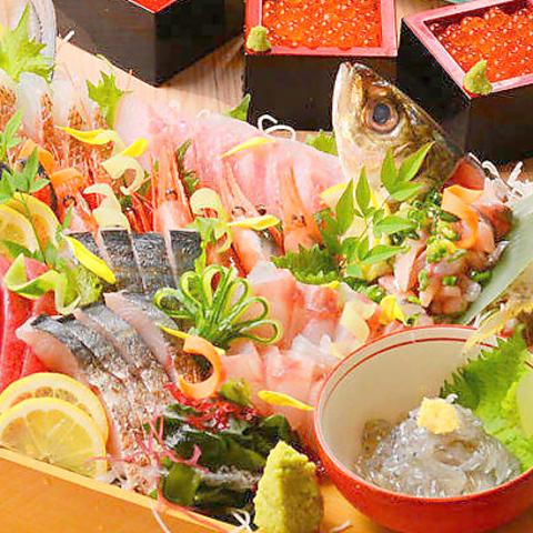 久茂地周辺で話題の店!!全国260か所以上の漁港から毎日仕入る鮮魚料理を堪能できる★