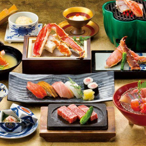 【翁〜おきな〜】かに、和牛、寿司を満喫する懐石