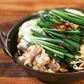 料理メニュー写真もつ鍋(醤油・味噌)