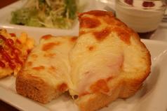 料理メニュー写真バタートースト/エッグトースト/ハムチーズトースト/明太子バタートースト