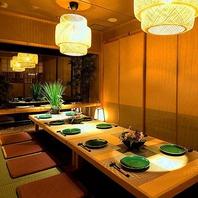 ◆大小様々な個室席をご用意◆