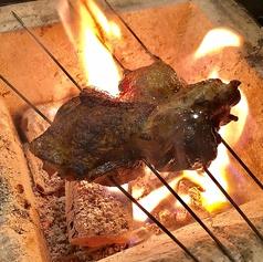 地鶏 丹波黒鶏もも炭火焼き