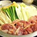 料理メニュー写真【しっかりと地鶏の味が出る旨い鍋】宮崎地鶏鍋 [和風醤油・麦味噌・水炊き](1~3人で食べれる)
