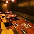 12名テーブル席は間仕切で4名×3の個室風に