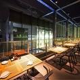解放感タップリ★夜景の見えるテラス席!ビアガーデン風のテラス席で鉄板料理をご賞味下さい♪
