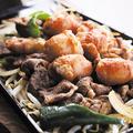 料理メニュー写真北海道開拓の味 ホルジン鍬焼き 味噌ホルモンとジンギスカン