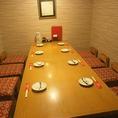 8名様の半個室・テーブル席♪靴を脱がずにゆっくりと過ごすことができます!