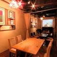 【カーテン個室】会社宴会にもオススメ☆20名様程度までご利用可能なカーテン個室。こちらの個室も音響・映像を個室ベースで映し出す事も可能です!