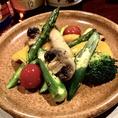【冬限定★】季節の野菜とキノコのオリーブオイル焼き 時価