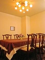 テーブルの個室。大切な方と。チャージ料あり