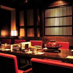 10名様までご利用いただけるテーブル席の個室です。飲み会や接待・会食や女子会等におすすめ。プライベートな空間で絶品和食料理をお楽しみいただけます。