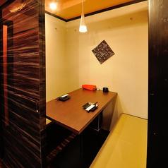 お洒落な雰囲気の完全個室。