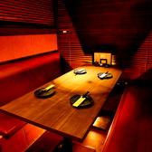 個室はデートや接待にもおすすめです。