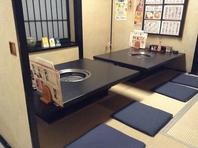 改装した畳のお座敷と排煙ばっちりの新型のロースター!