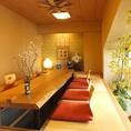 緑感じる小窓付堀個室は特別な日に◎お祝いや歓迎会など主役にご満足いただける空間をご案内いたします。