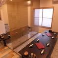 【20名まで】個室風に区切れるテーブル席