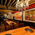 【4F】和と洋が融合したモダンなテーブル個室。新店舗なので内装もきれいです♪