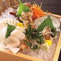 料理メニュー写真北海道漁港直送!活貝三種盛合せ