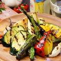 料理メニュー写真野菜グリル盛り合わせ 豆腐ゴマソース