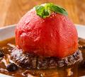 料理メニュー写真トマトのせハンバーグ
