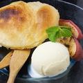 料理メニュー写真焼きパイとシナモンアップル