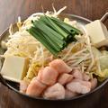料理メニュー写真名物!塩もつ鍋~秘伝の塩出汁~