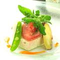 料理メニュー写真【コース一例】地鶏と有機野菜のパテ