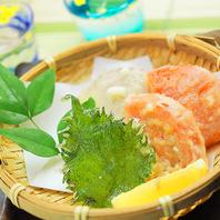 旬の天麩羅・お蕎麦など日本酒に合わせた和食料理。