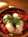 料理メニュー写真自家製激辛オイルの牡蠣のアヒージョ