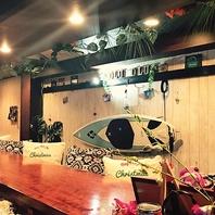 ■ハワイアンな店内■