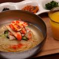 【モーニング】すっきりさっぱり冷麺セット!ドリンクバー付き!500円