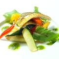 料理メニュー写真【コース一例】旬野菜のカポナータと鮎のソテー