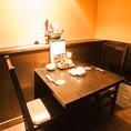 【平塚 個室】2名様にもテーブル個室ございます!テーブル席は6名様までご案内できます。テーブル以外にも、他個室は掘りごたつ仕様なので足元ゆったり楽々♪広く落ち着いた空間でお寛ぎください。