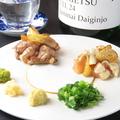 料理メニュー写真黒さつま鶏たたき 合い盛り合わせ