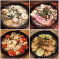 料理メニュー写真【各種アヒージョ】食欲をそそる、ぐつぐつの鉄鍋アヒージョ!!