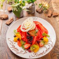 誕生日・歓送迎会に♪特製デザートプレート承ります!