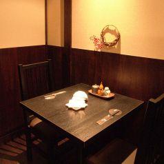 2名席個室。デートや仕事帰りのサク飲みに!