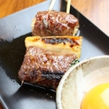 料理メニュー写真和牛スキヤキ串