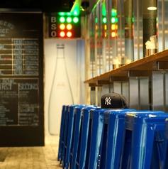 スコアボードや野球グッズに囲まれながら、オシャレな店内でゆっくりお過ごし下さい。