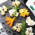 可愛いこだわりのチーズを各種ご用意【心斎橋 難波 個室 イタリアン チーズ パスタ ピザ 女子会 誕生日 サプライズ 肉】